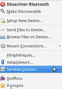 Bluetooth local services